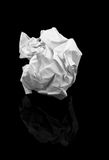 Bola de papel arrugada Foto de archivo libre de regalías