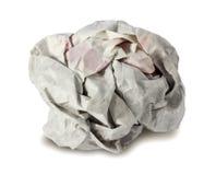 Bola de papel arrugada Imagenes de archivo
