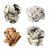 Bola de papel arrugada Imagen de archivo libre de regalías