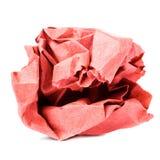 Bola de papel recicl colorida amarrotada isolada no backgrou branco Imagem de Stock