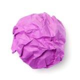 Bola de papel rosada Fotos de archivo