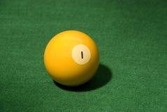 Bola de piscina 1 Fotografía de archivo libre de regalías