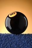 Bola de piscina del negro ocho Fotografía de archivo libre de regalías