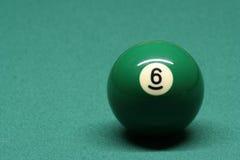 Bola de piscina número 06 Fotografía de archivo libre de regalías