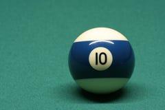 Bola de piscina número 10 Imagen de archivo libre de regalías