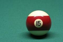 Bola de piscina número 15 Imagen de archivo libre de regalías