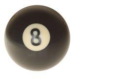 Bola de piscina número 8 Foto de archivo