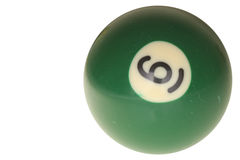Bola de piscina número seises Imagen de archivo libre de regalías