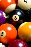 Bola de piscina o fondo de los billares imagen de archivo libre de regalías
