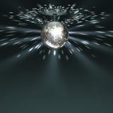 Bola de plata del disco ilustración del vector