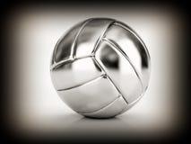 Bola de plata del voleo Fotografía de archivo libre de regalías