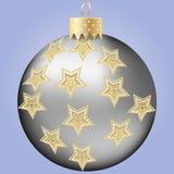 Bola de prata do Natal Imagens de Stock