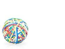 Bola de Rubberbands Fotografía de archivo