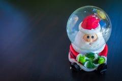 Bola de Santa Claus Water Dome Snow Glass Imagen de archivo