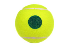 Bola de tênis amarela Fotografia de Stock Royalty Free
