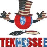 Bola de Tennessee con el sombrero y las manos americanos Foto de archivo libre de regalías