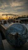 Bola de vidro no parque do patim de gelo Imagem de Stock Royalty Free