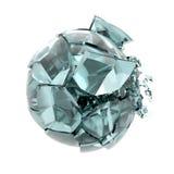 Bola de vidro quebrada Fotografia de Stock Royalty Free