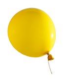 Bola de vuelo amarilla del aire aislada en blanco Foto de archivo libre de regalías