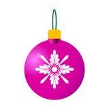 Bola decorativa cor-de-rosa do Natal Imagem de Stock