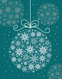 Bola decorativa de la Navidad Ilustración del Vector
