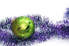 Bola decorativa verde foto de archivo libre de regalías