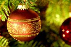 Bola del árbol de navidad Fotografía de archivo