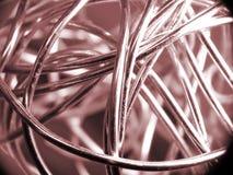 Bola del alambre de plata Imagen de archivo libre de regalías
