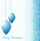 Bola del azul de la Navidad Imagen de archivo