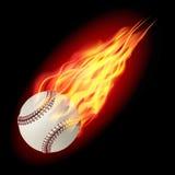 Bola del béisbol en fuego Imagen de archivo libre de regalías