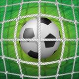 Bola del Balompié-Meta-Fútbol Fotografía de archivo libre de regalías