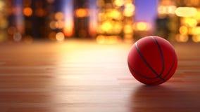 Bola del baloncesto en el movimiento