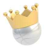 Bola del baloncesto en la corona aislada Fotos de archivo libres de regalías