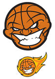 Bola del baloncesto Personaje de dibujos animados enojado stock de ilustración