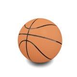 Bola del baloncesto sobre el fondo blanco Fotos de archivo