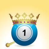 Bola del bingo y corona y sceptre Imágenes de archivo libres de regalías