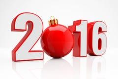 2016 - bola del brillo - rojo Fotos de archivo