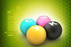 Bola del color de Cmyk Fotos de archivo
