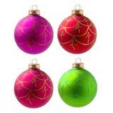 Bola del día de fiesta de la Navidad aislada en el fondo blanco Foto de archivo libre de regalías