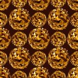 Bola del disco Fondo inconsútil del oro Foto de archivo libre de regalías