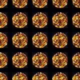 Bola del disco Fondo inconsútil del oro Fotos de archivo libres de regalías