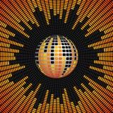 Bola del disco y fondo del equalizador Imagen de archivo