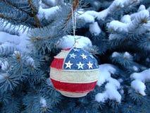 Bola del E.E.U.U.-estilo del Año Nuevo Imagen de archivo libre de regalías
