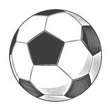 Bola del fútbol aislada en el fondo blanco Línea arte ilustración del vector