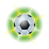 Bola del fútbol. Ejemplos abstractos Fotografía de archivo