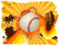 Bola del fondo del béisbol Fotos de archivo libres de regalías