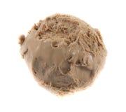 Bola del helado del chocolate Fotografía de archivo libre de regalías