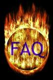 Bola del laberinto con el FAQ Fotografía de archivo