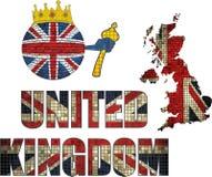 Bola del ladrillo con la bandera de Gran Bretaña Foto de archivo libre de regalías