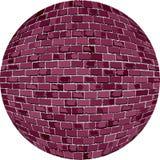 Bola del ladrillo de Borgoña Foto de archivo libre de regalías